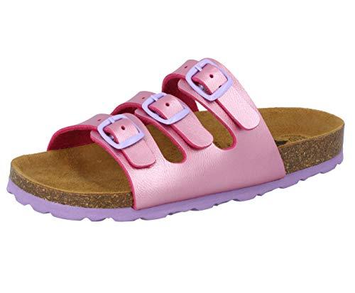 Lico Bioline - Pantofole piatte da bambina, Rosa (Rosa/lilla.), 31 EU