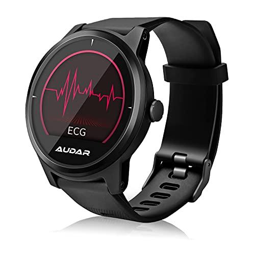 August Audar Smartwatch Orologio Fitness Tracker Uomo Donna E1 | ECG PPG Smartband Braccialetto Activity Tracker Sportivo cardiofrequenzimetro da Polso Contapassi Calorie per Android iPhone