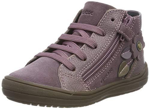Geox J HADRIEL Girl A, Zapatos de niña Transpirable con Suela Protectora para Niñas, Rosa (Ciruela Oscuro), 34 EU