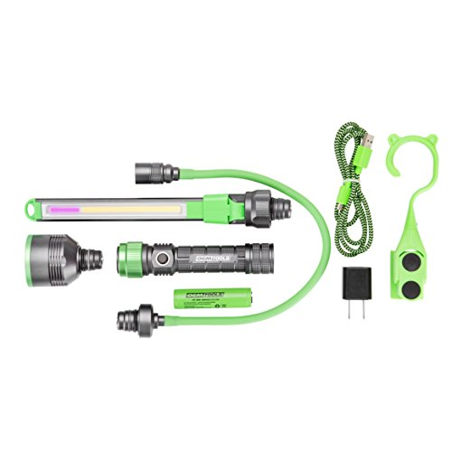 Modular Work Light, All-in-One Flexible Extension UV Inspection Attachment, Mechanic's Rechargeable Lightweight Drop Resistant Flashlight - OEMTOOLS 24648