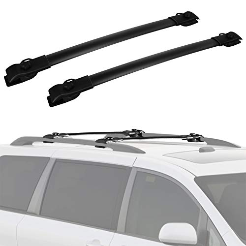 Cross Bars Roof Racks Compatible for 2011-2020 Toyota Sienna, Luggage Crossbars Cargo Bag Carrier Aluminum Rooftop Set Carrying Kayak Bike Canoe