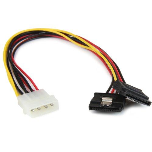 StarTech.com Adattatore Splitter Cavo di Alimentazione Y LP4 a 2 SATA Latching da 30 cm, Molex 4 Pin a Dual SATA