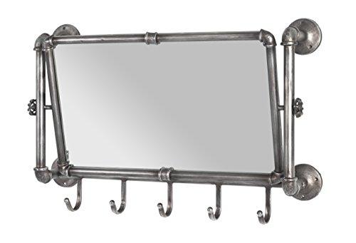 Haku-Möbel 13815 Wandgarderobe, Metall, anthrazit, 75 x 16 x 45