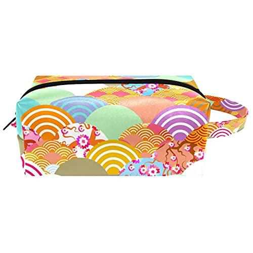 Neceser colgante bolsa de cosméticos papelería organizador bolsa portátil estuche cocodrilo azul