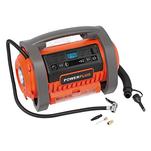 Powerplus Dual Power Luftpumpe Powerplus Kompressor 20V + 220 V (ohne Akku)