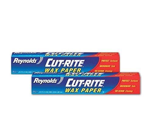 Reynolds Wrap Cut-Rite Wax Paper, 75 Sq Ft (Pack of 2)