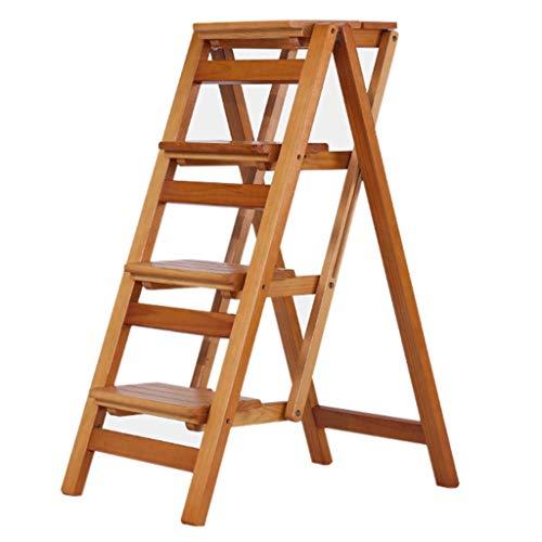 Equipo para el hogar Escaleras Escalera de paso Taburetes de escalera para el hogar Taburete de escalera plegable multifunción para el hogar Escalera de cuatro escalones Silla Zapatero Estante de f