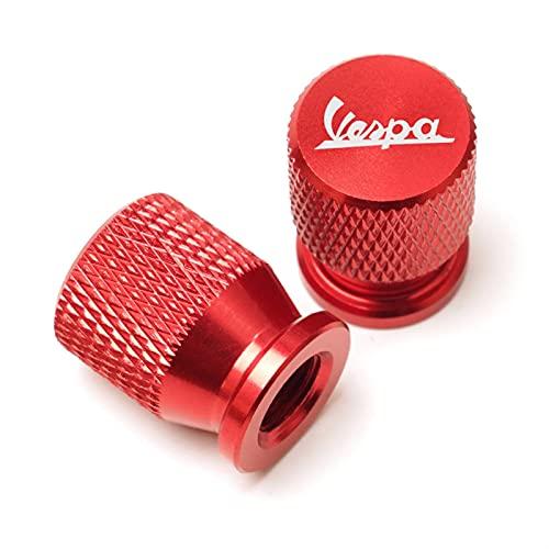 Accesorios para Motocicletas para Piaggio Vespa Sprint Primara Scooter GTS 300 Super Motorbike Universal CNC Aluminio Válvula Válvula de Aire Puerto de Aire Tapa Tapa Cap Plug (Color : Red)