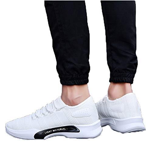 XJWDNX - Zapatos deportivos para hombre, diseño de letras, para correr, al aire libre, para correr, coser, transpirables, para ocio