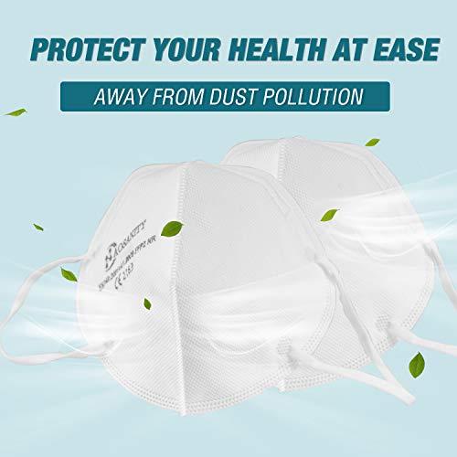 10 X AOSANITY FFP2 Atemschutzmaske - Konforme Maske EN 149:2001+A1:2009, Maske mit mehrschichtigem System, hohe Filtrationskapazität Zusätzlicher Komfort und Sicherheit - 2