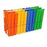 EUROXANTY® Pinzas para La Ropa | Pinzas para Tender La Ropa | Resistentes al Desgaste | Resistente al Viento | Diseño ergonómico (24 Pinzas)