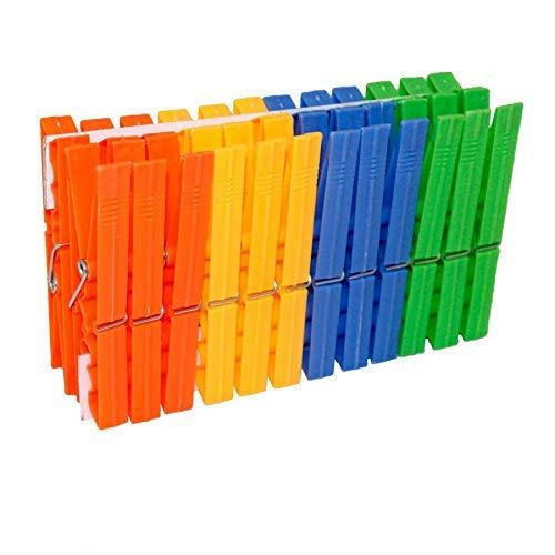 EUROXANTY® Pinzas Para La Ropa   Pinzas Para Tender La Ropa   Resistentes al Desgaste   Resistente al viento   Diseño ergonómico   Alta calidad (24 pinzas)