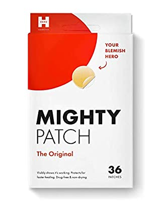 Mighty Patch Original from Hero Cosmetics - Hydrocolloid Acne Pimple Patch for Zits and Blemishes, Spot Treatment Stickers for Face and Skin, Vegan and Cruelty Free (36 Count) by Mighty Patch