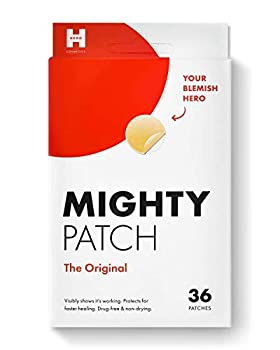 Mighty Patch Original from Hero Cosmetics - Hydrocolloid Acne Pimple Patch for Zits and Blemishes Spot Treatment Stickers for Face and Skin Vegan and Cruelty Free  36 Count