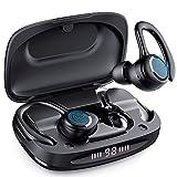 Cuffie Bluetooth Sport Auricolari Wireless Running Bluetooth 5.0 Cuffiette Per Correre,Cuffie In-Ear Bluetooth Impermeabile/Controllo Touch/Stereo HI-FI