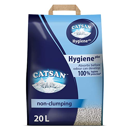 Catsan Hygiene Cat Litter, with White Hygiene Granules...