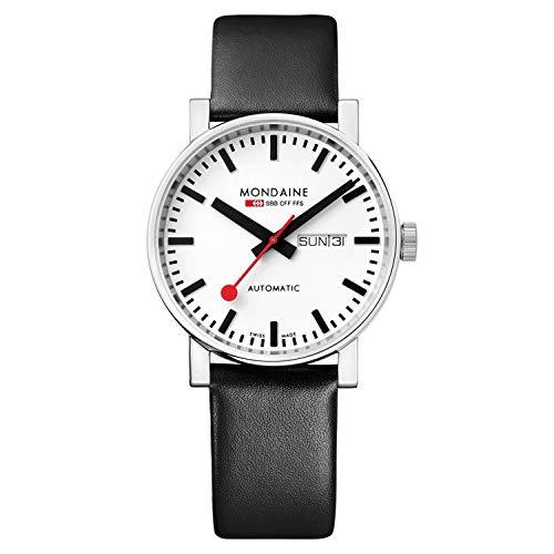 Mondaine Evo2 - Reloj de Cuero Negro para Hombre y Mujer, A132.30348.11SBB, 40 MM