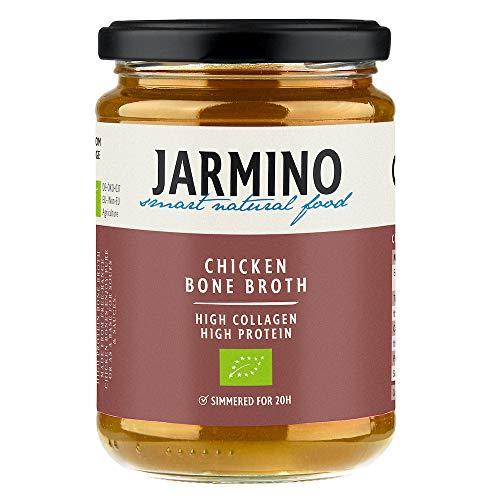 Chicken Bone Broth by JARMINO   6X 350ml Organic Chicken Broth   Soup Base   Great for Keto Diet, Paleo Diet & Atkins Shakes   Natural Alternative to Collagen Tablets or Collagen Powder