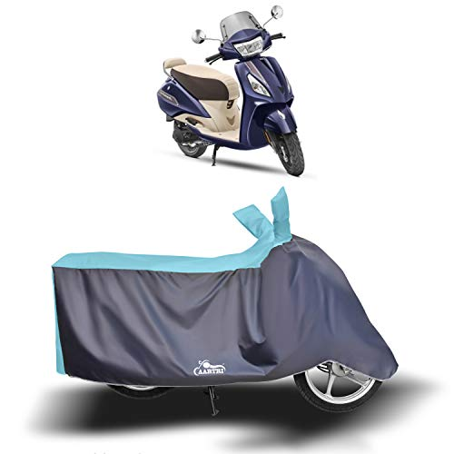 Cover Lab - TVS Jupiter Classic New BS6 Water Resistant - UV Protection & Dust Proof Full Bike - Scooty Two Wheeler Body Cover for TVS Jupiter Classic (Sky Blue)