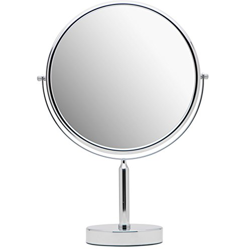 "Mirrorvana XXLarge 11-Inch Oversized 3X/1X Magnifying Makeup Mirror with Stand, Double Sided, 17"" Height and 11"" Wide"