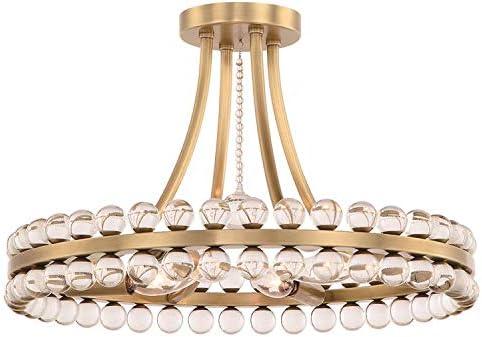 popular Clover discount 4 Light Aged Brass online sale Ceiling Mount outlet sale