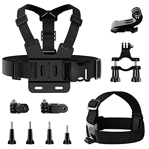 Cinghia per la testa del kit di accessori per action cam,Cinturino pettorale per action cam,Supporto per bici per action cam,Accessori per action cam,Cinghia per la testa del kit action camera