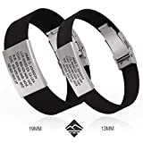 Road ID - Premium ID Bracelet - The Wrist ID Elite - 13mm Wide - Silicone Clasp - for Athletes - 4 Colors