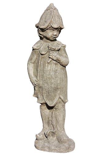 Elfe Lilie, Wiesenelfe, Skulptur aus Steinguss, Figur