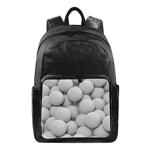 QMIN Rucksack Sport Golfball Muster Mode Bookbag wasserdicht Reise College Canvas Daypack Schultertasche Organizer für Jungen Mädchen Damen Herren