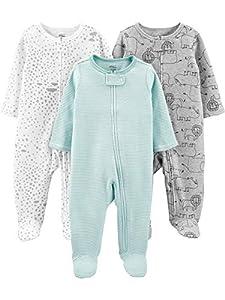 Simple Joys by Carter's - Pelele para dormir - para bebé niña multicolor Mint/Stripes/Heather Grey/Prints 0 - 3 Months