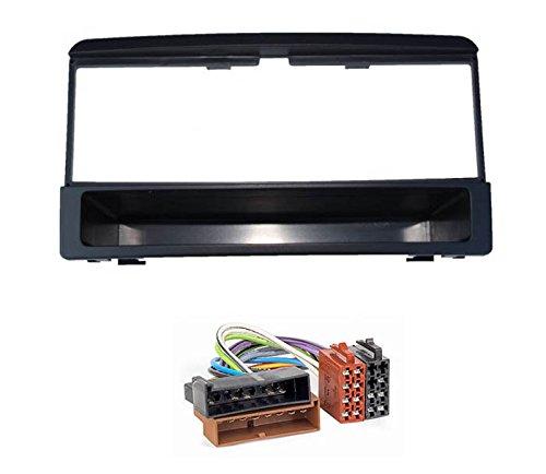 Audioproject A194 - Set di mascherina radio per Ford Focus Mondeo Galaxy Fiesta Cougar, vano portaoggetti e adattatore radio, colore: Nero