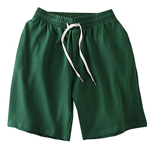 Shorts Kurze Herren Hose Herren Fashion Board Shorts Kordelzug Elastic Waist Shorts Herrenbekleidung Cropped Pants Loose Casual Beach Shorts Für Herren-Green_M