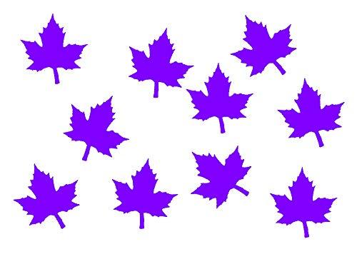 Miniblings 10x Transfert Tissu 26mm Lisse Patch Feuille d'érable I Patches à Repasser Repassage, Color:Lila