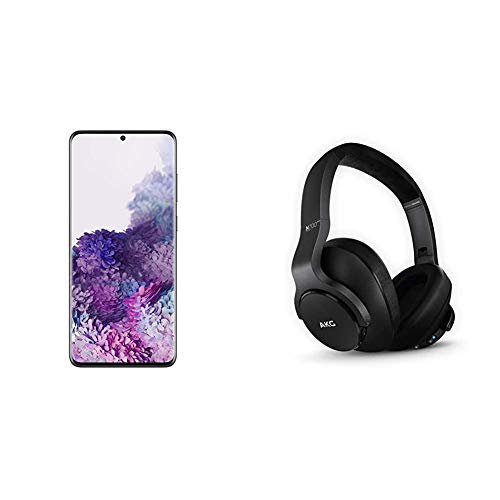 Samsung Galaxy S20+ Plus 5G Factory Unlocked New Android Cell Phone US Version, 128GB of Storage, Black & N700NC M2 Over-Ear Foldable Wireless Headphones, Black