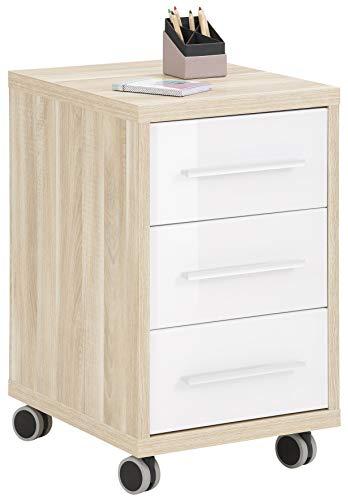 MAJA Möbel Rollcontainer, Holzwerkstoff melaminharzbeschichtet, One Size
