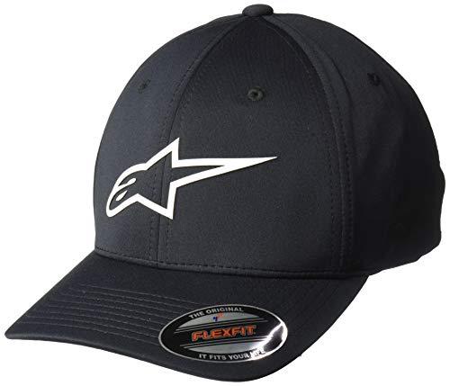Alpinestars Men's Logo Flexfit, cuvred Bill Structured Crown, Ageless Sonic tech hat Black/White, LXL