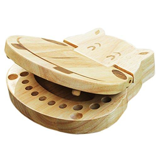 Little Sporter Nilpferd Milchzahnbox Kinder Milch Zähne Box Holz Zahn Aufbewahrungs Souvenirbox Zahnkästchen Mini Zahndöschen Für Baby Speichern 1 Stück