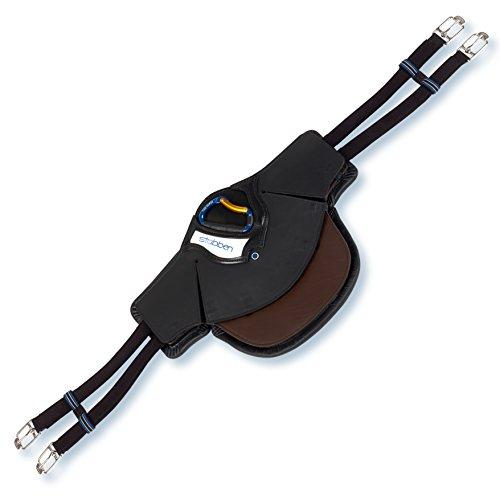 Stübben Equi-Soft® Stollenschutzgurt inkl. Polster - schwarz/Ebony - 65cm - Lammfell anthrazit-schwarz