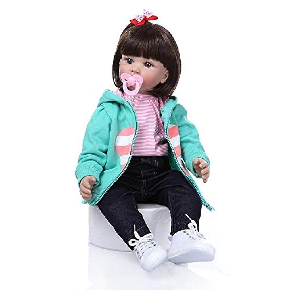 提出する少し経験的赤ちゃん人形 可愛い 癒し リボーンドール お座り可能 服着せ替え シリコーン製 60cm 磁気おしゃぶりと洋服付き 出産祝い 贈り物 お誕生日祝い 知育玩具