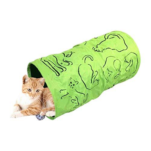 Kat huisdier Tunnel zacht knisperige bal spelen leuk Labyrint Sprung staal Greencat spelen Tunnel 25 * 50cm