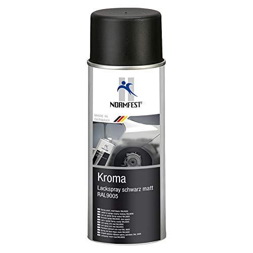 AUPROTEC Lackspray Autolack Schwarz Matt benzinfest Kroma Sprühlack Farb Spray 1x 400ml