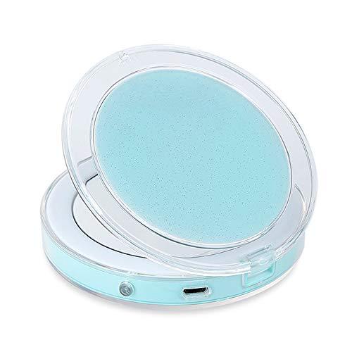 Desktop mirror Espejo de Maquillaje led portátil Mini Espejo de vanidad Espejo Plegable Espejo de Maquillaje Recargable Inteligente Espejo de luz de Relleno Inteligente