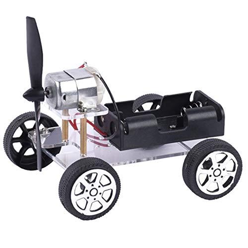 BoaInx Motor eléctrico USA tu Cerebro for Montar el Ventilador del Coche DIY del Coche de Motor del Robot Kit for 130 Motor Mini Viento Juguetes educativos Motorreductor
