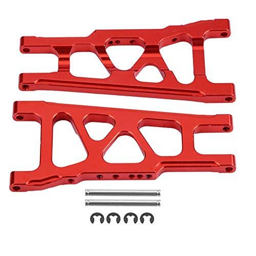 Dilwe RC Auto Querlenker, Aluminiumlegierung Vorne Hinten Universal Querlenker für Traxxas Slash 1/10 Skala RC Auto Upgrade RC Auto Zubehör( Rot)