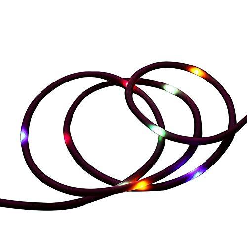 Saska LED Controlado por Voz LED Cable Capa DE Carga RÁPIDA DJ Streamer Micro USB Cables De Datos De Automóviles Creativos Teléfono Portátil Cable De Carga,Rosado,Apple 1m