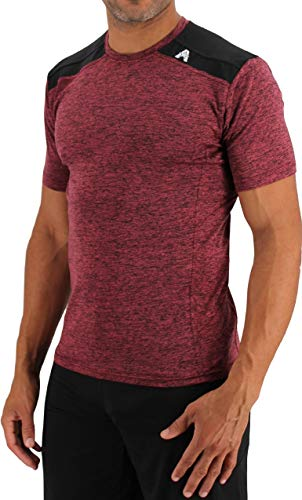 Anthem Athletics Hyperflex Men's Fitted Training Workout Shirt - Iron Oxblood - Small