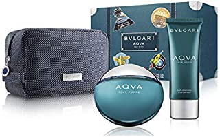 BULGARI AQUA HOME EDT 100ML + BALSAMO AFTER SHAVE + NECESER