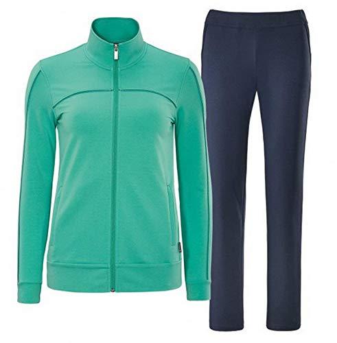 Schneider Sportswear Damen Sport-Freizeit-Trainingsanzug SHILOHW Anzug grün blau, Größe:50/S