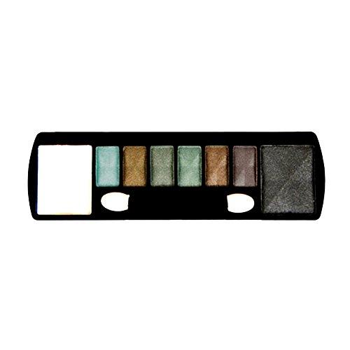 Maquillage Yeux - 8 Fards Ombres à Paupières - Noir - Crème - Camaieu Vert
