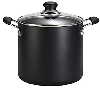 T-fal A92280 Specialty Total Nonstick Dishwasher Safe Oven Safe Stockpot Cookware 12-Quart Black by T-fal